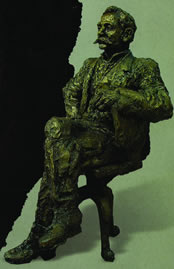"pp. 143 – crop to sculpture of: ""Pierre de Coubertin"""