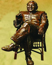 "p. 152 – crop top bronze sculpture of ""Deng Xiaoping"