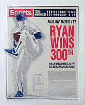 Ryan Wins 300th