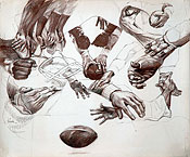 Study of Football Players Hands