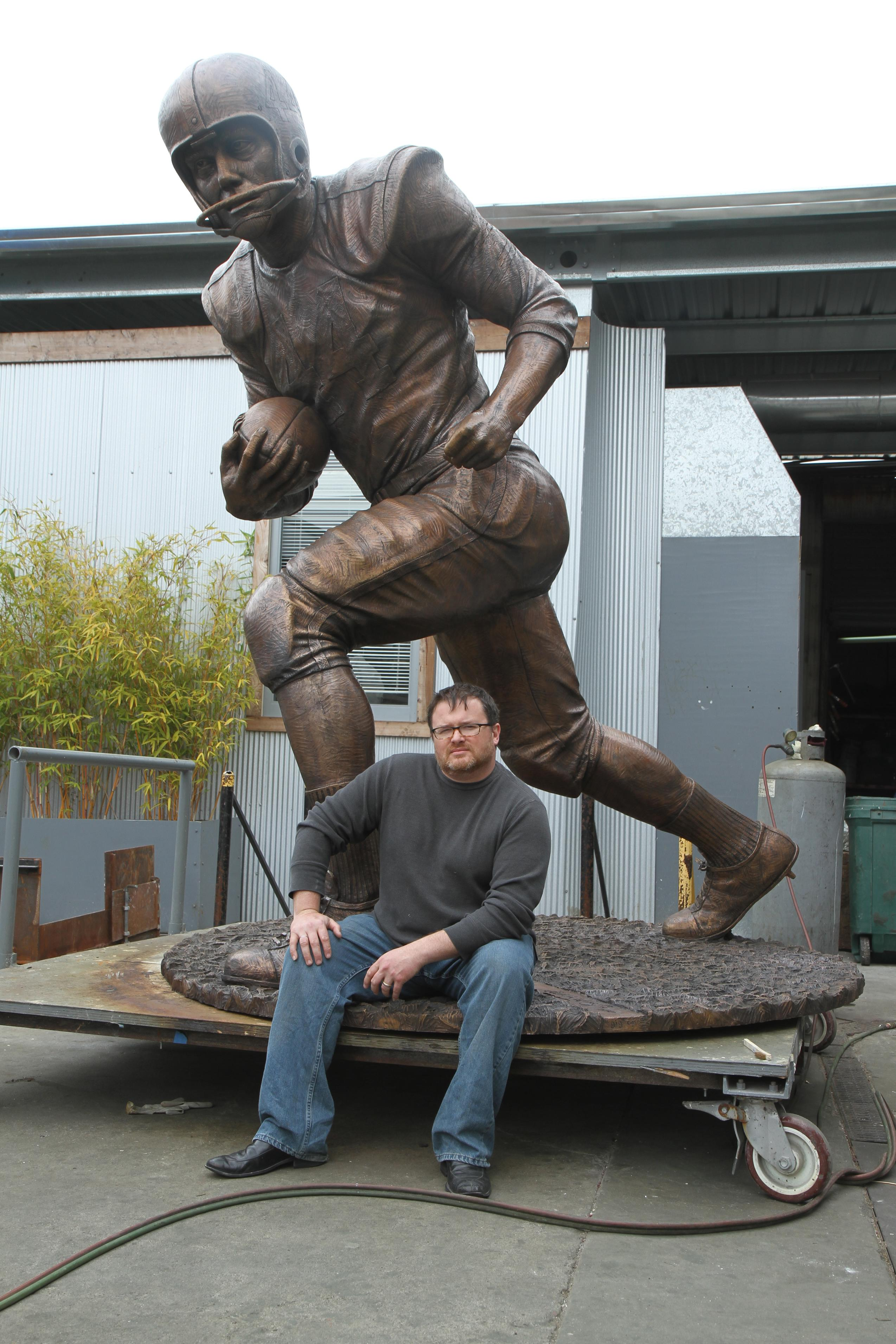 Steven Whyte and John David Crow Statue