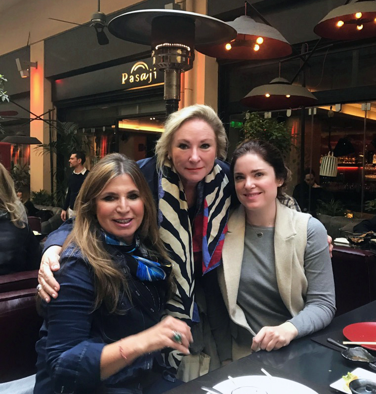 B'Beth Weldon and met for lunch in Athens, Greece, with Greek artist Dr. Mina Papatheodorou Valyraki
