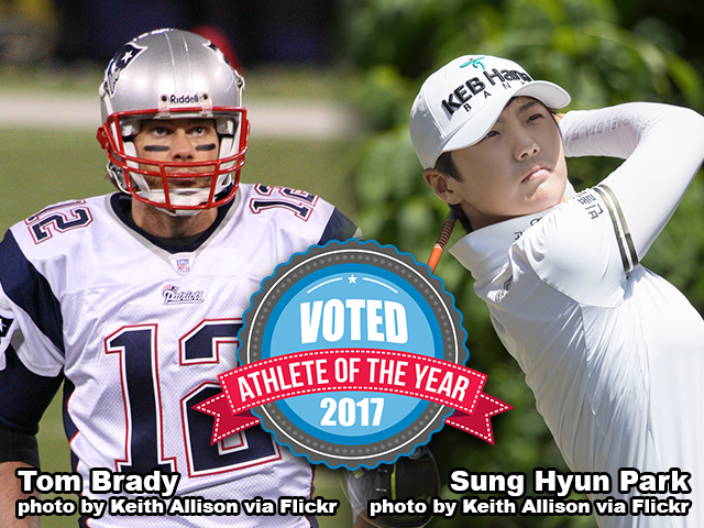 Tom Brady and Sung Hyun Park