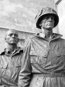Sculptures of soldiers