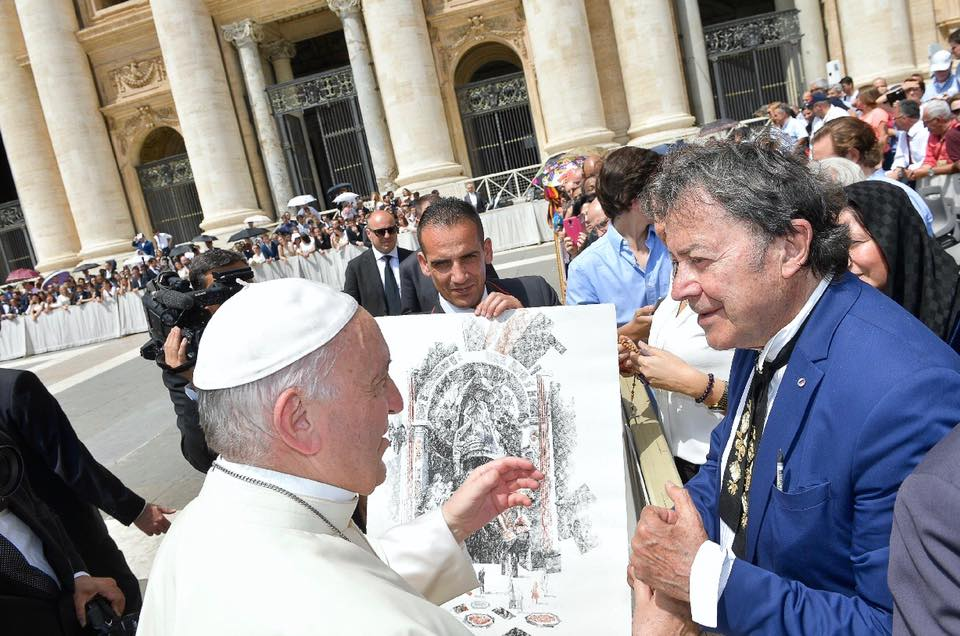 Billich with Pope Francis