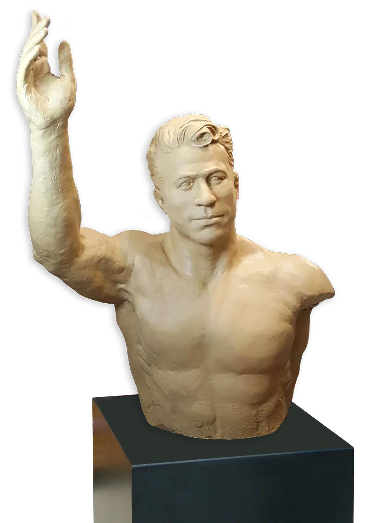 Iranian Wrestler Sculpture